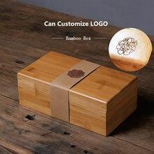 Storage-Box Jewelry Display Gift Bamboo Rectangle Small Fashion W019 Can-Customize-Logo