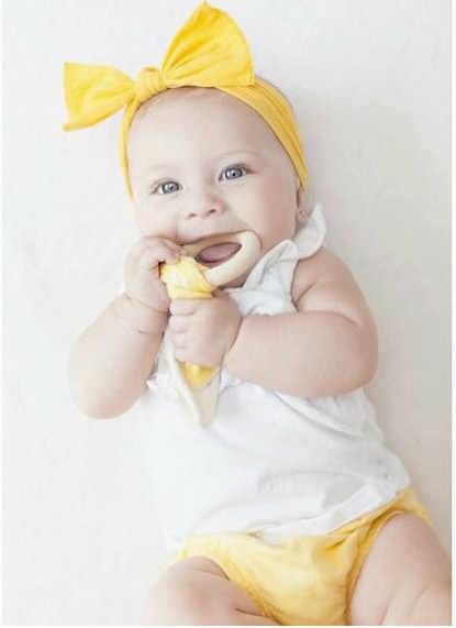Bayi Kelinci Telinga Teether Aman Organik Kayu Teething Ring Ikan Dot, Pilihan Warna, bayi Mandi Hadiah