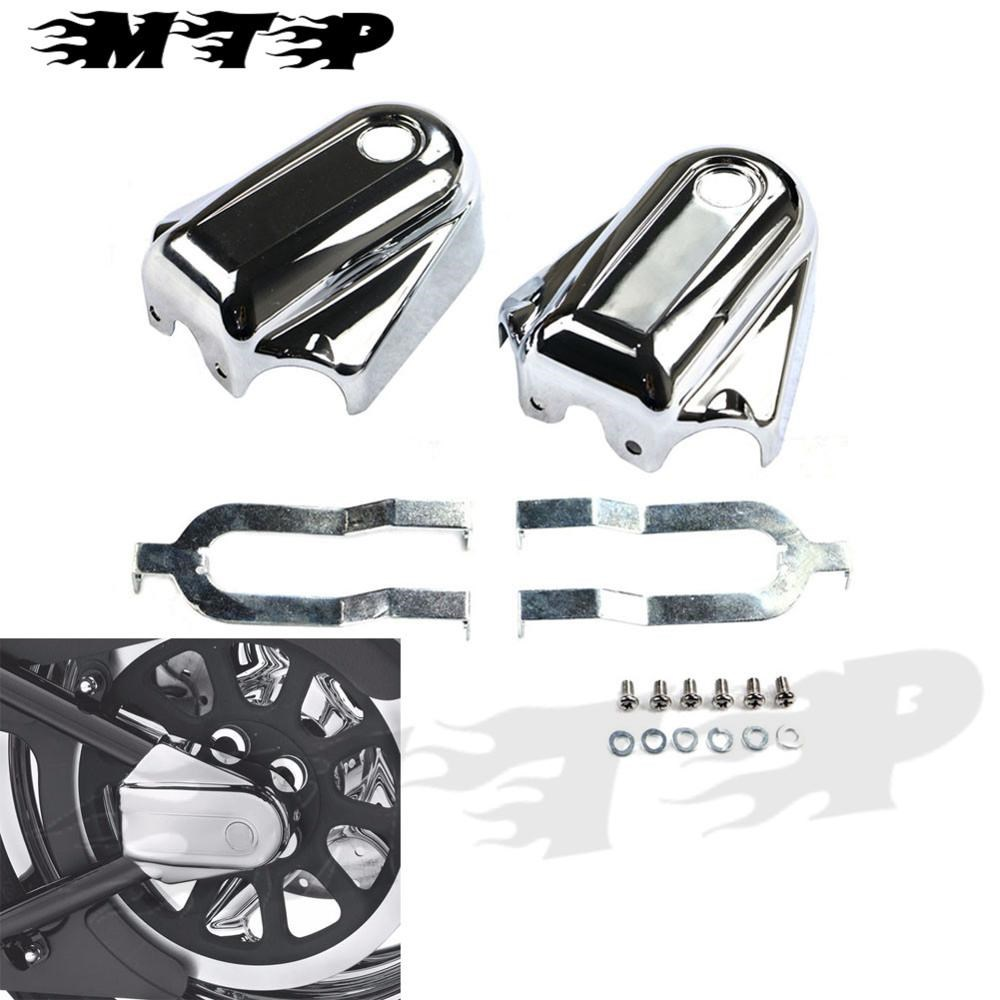 Chrome Bar & Shield Rear Axle Cover ABS Plastic For Harley Heritage Softail Classic FLSTC 2008-2016 09 10 11 12 13 14 15 black chrome skeleton mirrors for harley davidson softail springer heritage classic