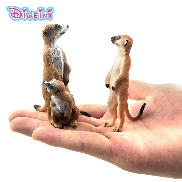 Simulation Cute Small Meerkat animal model plastic figure home decor figurine decoration accessories modern Gift For Kids toys