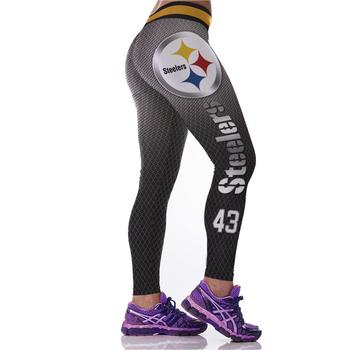 New 128 Sexy Girl Jogging Leggings Comics football rugby steelers team Prints High Waist Running Fitness Sport Women Yoga Pants 1
