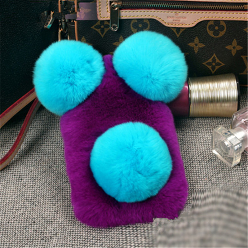 new concept 9bbbc a62ea US $12.64 49% OFF|Ayeena Hairs Mask Cases For Huawei Mate 9 Mate 8 Mate 7  Fluffy Real Rabbit Fur Capa Fundas Furry Cute Panda Phone Cases Fundas -in  ...
