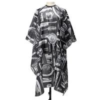 שעוונית עמיד למים שכמיית תספורת סלון מעצב שיער בארבר וואי Prined שמלת סינר שחור מסרק לבן