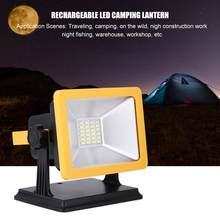 15W LED Flood Light Emergency Camping Light Lamp USB Rechargeable LED Work Light for Outdoor Camping foco led exterior lantern(China)
