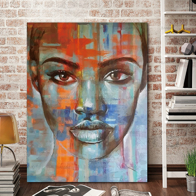 Abstract Portrait Canvas Painting Picture Wall Art Prints Picuture Figure Home