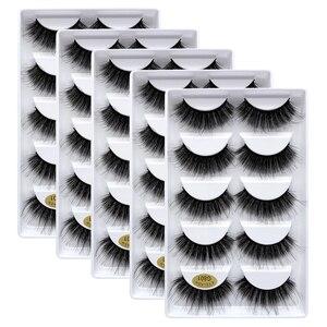 Image 3 - 25 pares 3d vison cílios por atacado natural cílios postiços 3d vison cílios macios extensão cílios falsos cilios g806 g800