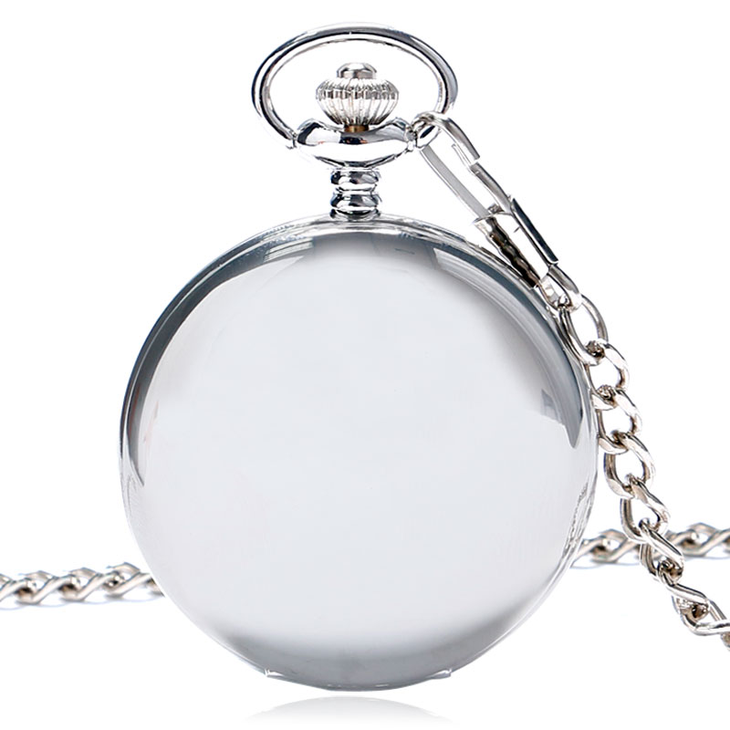 Hot Sale Style Fashion New Arrvial Classic Smooth Vintage Silver Color Women Mens Arabic Numbers Fob Pocket Watch Free Shipping