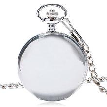Hot Koop Stijl Mode Nieuwe Arrvial Klassieke Glad Vintage Zilveren Kleur Vrouwen Heren Arabische Nummers Zakhorloge Gratis Verzending