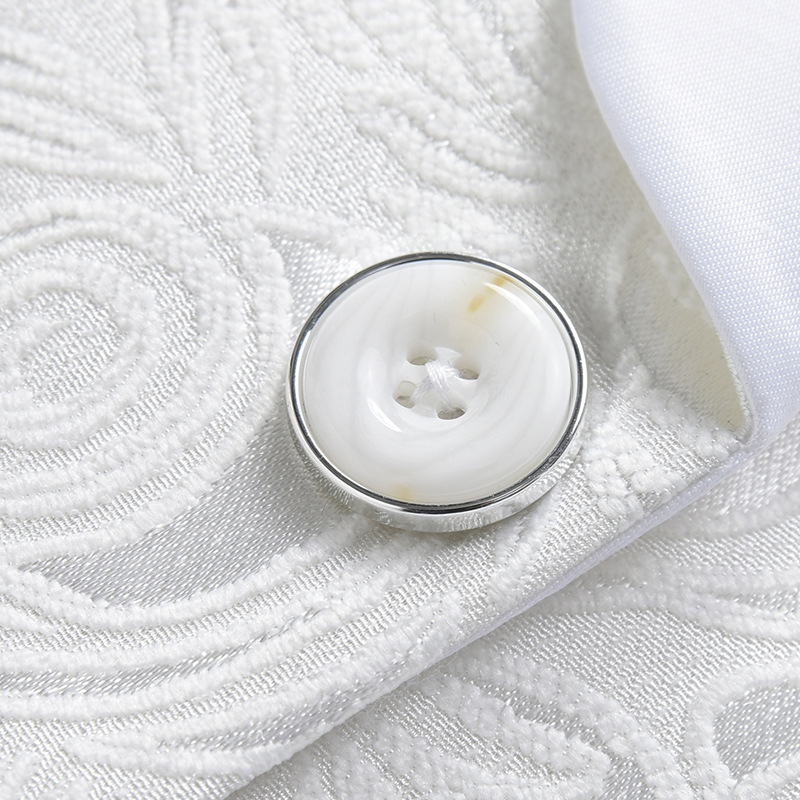 2018 Blazer Slim Fit Masculino Abiti Uomo Botton Wedding Prom Blazers Single button White For Men Stylish Suit Jacket 4XL EM061 4