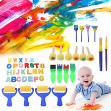 46PCS/SET Washable Sponge Painting Brushes Set for Kids Children Toddler Early Education Toys Art Supplies Gifts