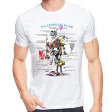 Original Basic Design Vintage Shirts Love Scuba Dive T Shirt Men The complete diver T-shir