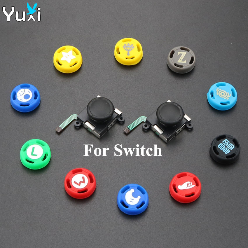 YuXi 2 Piars High Quality 3D Analog Sensor stick Joystick Replacement For Nintendo Switch NS Joy Con Joy Stick Controller