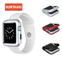 Magnetic adsorption  Metal Frame Alloy for Apple Watch 40 44mm Case Protector Cover Suntaiho for iWatch Series 4 3 2 1 38 42mm