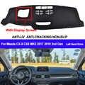 AIJS Car Dashboard Copertura Mat Dash Pad Tappeto Dashmat Anti-Uv Per Mazda CX5 MK2 2017 2018 2nd Gen Con Lo Schermo di Visualizzazione