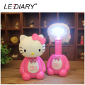 Hot New LED Rechargeable Desk Lamp Hello Kitty Flexible Length Night Light 12LED 220V Reading Lamp for Student Eye Protection