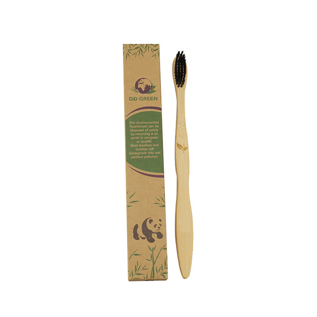 bamboo natural toothbrush soft bristles biodegradable environmental eco friendly family toothbrush set