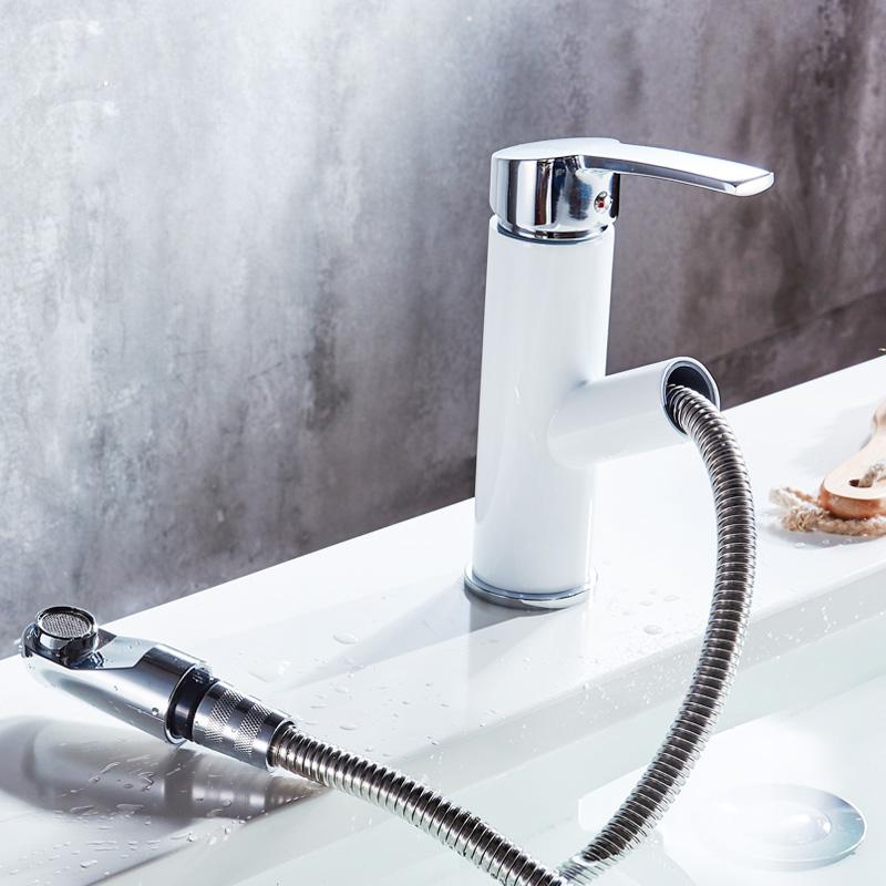 Restroom Fixtures Commercial Bathroom Sink Taps Bathroom Sink Faucet in Contemporary Style Single Handle One Hole Hot and Cold Water Faucet,Gold,Silver