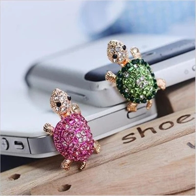 SIANCS 3.5mm Cute Turtle Shape Jack Headphone Port Dust Plug Fashion Phone Accessories