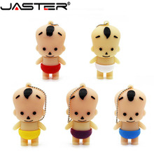 JASTER Fashion hot selling creative U Disk 2.0 64GB 32GB 16GB 8GB 4GB cartoon little baby real capacity USB flash drive