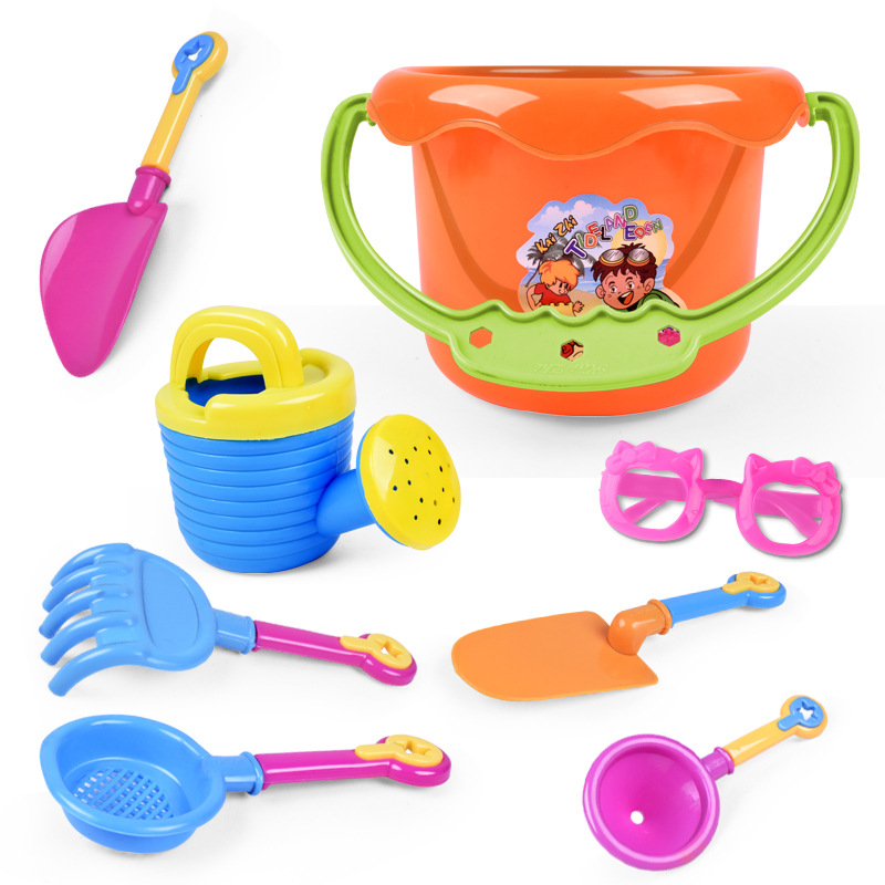 9 Pieces Beach Sand Toys Kids Children's Summer Toys Brinquedos Shovel Bucket Sprinkler Shower Shovel Tools Classical Play Toys