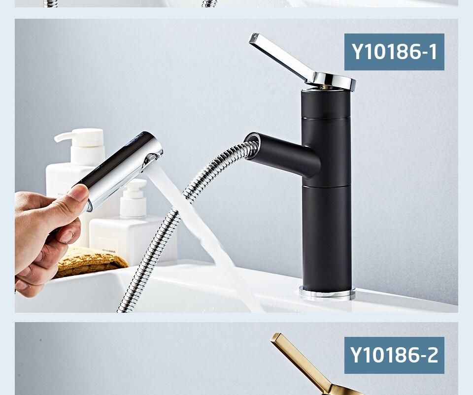 HTB1jMHFV9zqK1RjSZFjq6zlCFXaY - FRAP Basin Faucet Pull Out Bathroom Sink Faucet Single Handle Waterfall Bathroom faucet