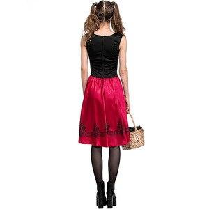 Image 5 - S 6XL ผู้หญิงเซ็กซี่ Little Red Riding Hood เครื่องแต่งกายผู้ใหญ่ฮาโลวีนชุดแฟนซี + เสื้อคลุมชุดคอสเพลย์