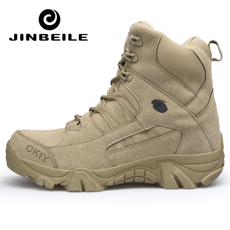Winter Big Size 46 Desert Tactical Mens Boots Wear resisting Army Boots Men Outdoor Hiking Men Combat Ankle Boots Snow Footwear