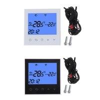 WiFi Thermostat Fernbedienung Elektrische Boden Heizung System 12/16A Touchscreen