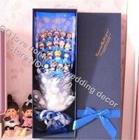International Express 18pcs Doll Carnations Mother S Day Cartoon Bouquet Diamond Bear Flowers Doll Festival Gift