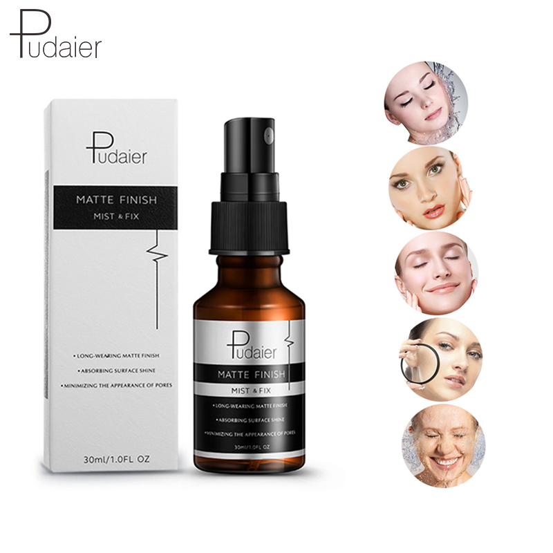 Pudaier Face Spray Profesional Maquillaje Fix Mist Matte Dewy Finish Moisturizing Toner Spray Makeup Setting Spray Oil-control image