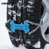 Vehemo 2pcs Anti Skid Chains Easy Installation Snow Chain Durable Snow Tire Belt Accessories Emergency