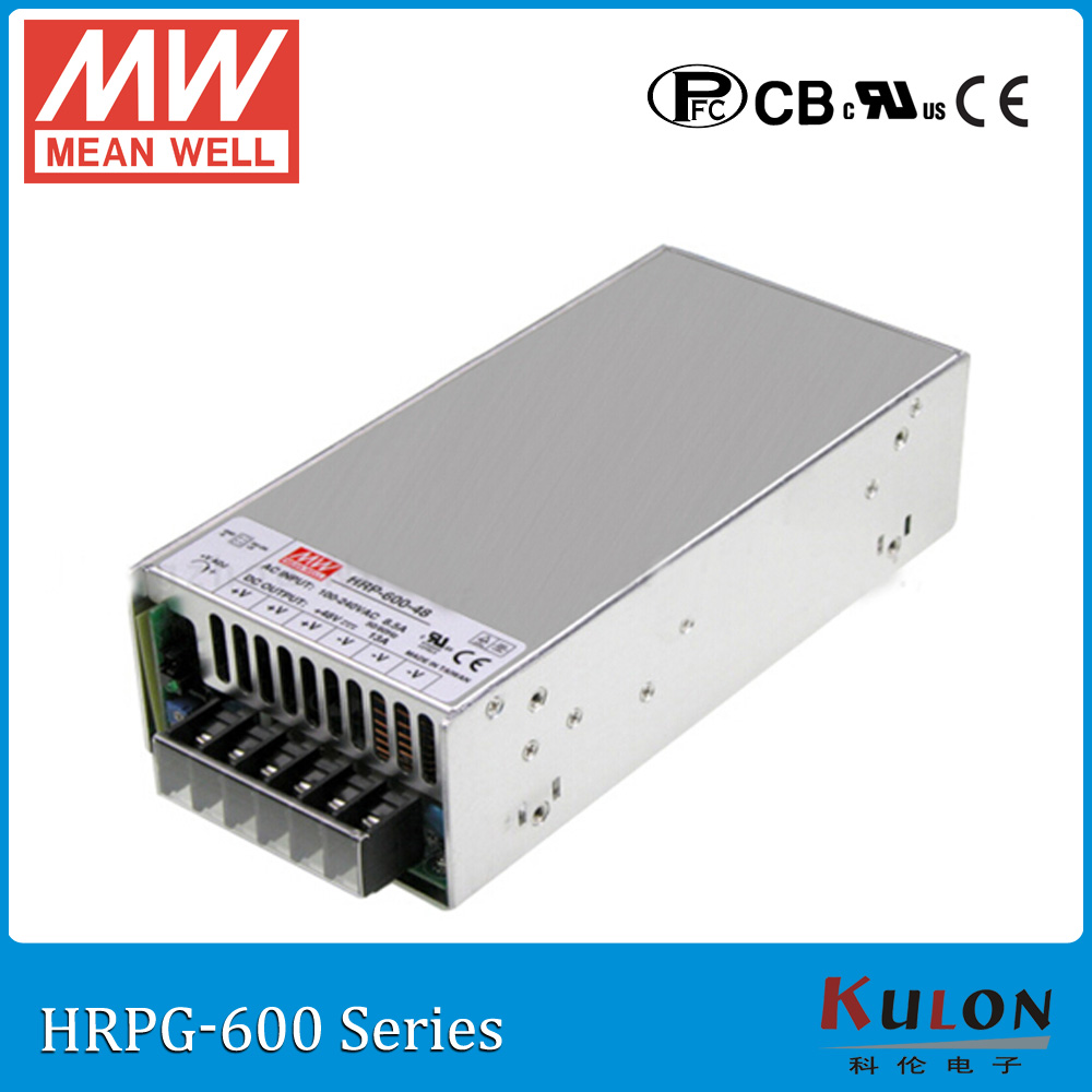 цена на Original MEAN WELL HRPG-600-24 single output 648W 27A 24V meanwell Power Supply HRPG-600 transformer with PFC function