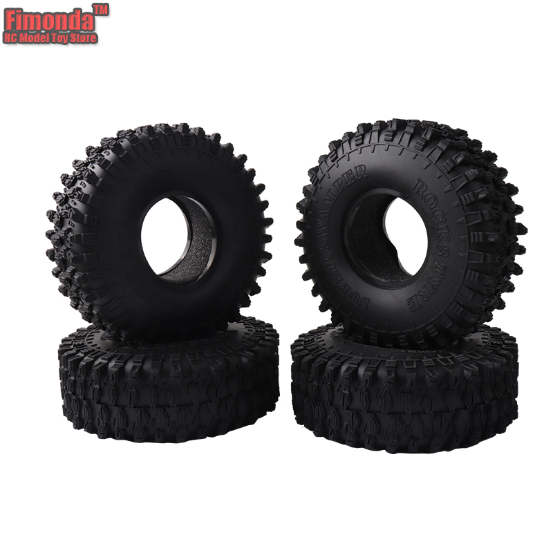 Fimonda RC Car SCX10 TRX4 Tire Skin 1.9 Inch Climbing Car 120*45mm Black Rubber Wheel Tires Soft Tyre for 1:10 Rock Crawler D90 mxfans rc 1 10 2 2 crawler car inflatable tires black alloy beadlock pack of 4