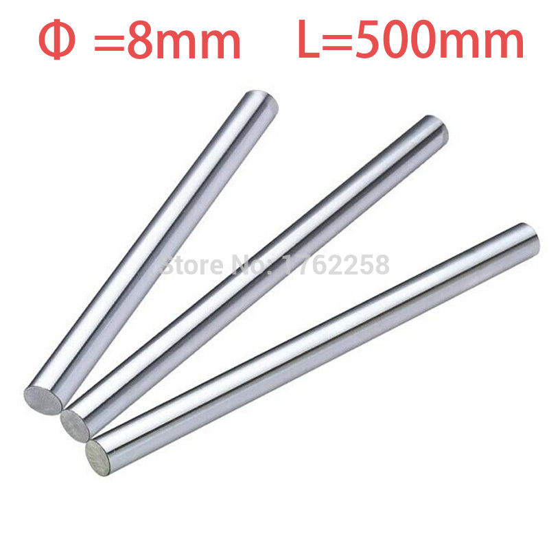 2pcs 8mm 8x500 linear shaft 3d printer 8mm x 500mm Cylinder Liner Rail Linear Shaft axis cnc parts