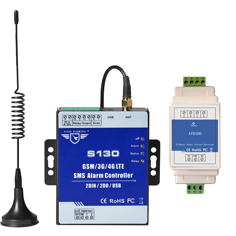 3 Phase Four-wire Power Status Detector AC 380V 1 Loops Alarm System Cellular Module Remote Controller For Farm Base Station3 Phase Four-wire Power Status Detector AC 380V 1 Loops Alarm System Cellular Module Remote Controller For Farm Base Station