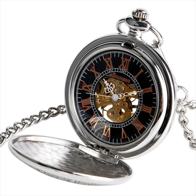 Vintage Fob Mechanical Pocket Watch Clock Cool Dragon Necklace Wind Up Hand Winding Steampunk Christmas Gift relogio de bolso
