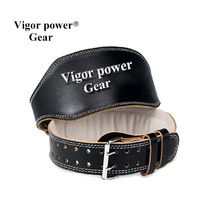 Genuine leather top qulity fitness gym weightlifting belt widening male Women fitness belt weight lifting wrist