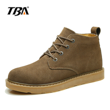 TBA Genuine British Classic Vintage Fashion Mens Cow Suede Mid Top Tooling Shoes Handmade Outdoor Man Work Safety Boots For Male