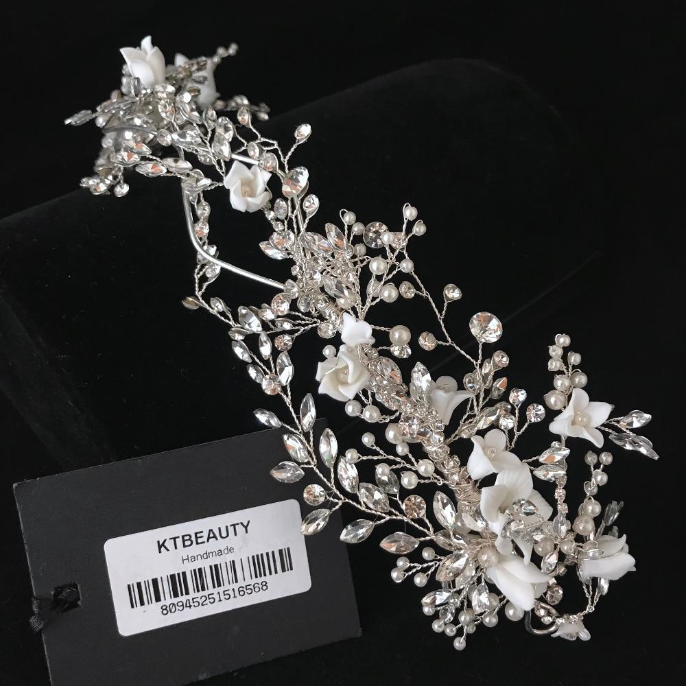 Rhinestone Silver Custom Made band Tiara Handmade Fashion Hairband Royal Bridal Wedding Dressing Crown Accessory Women