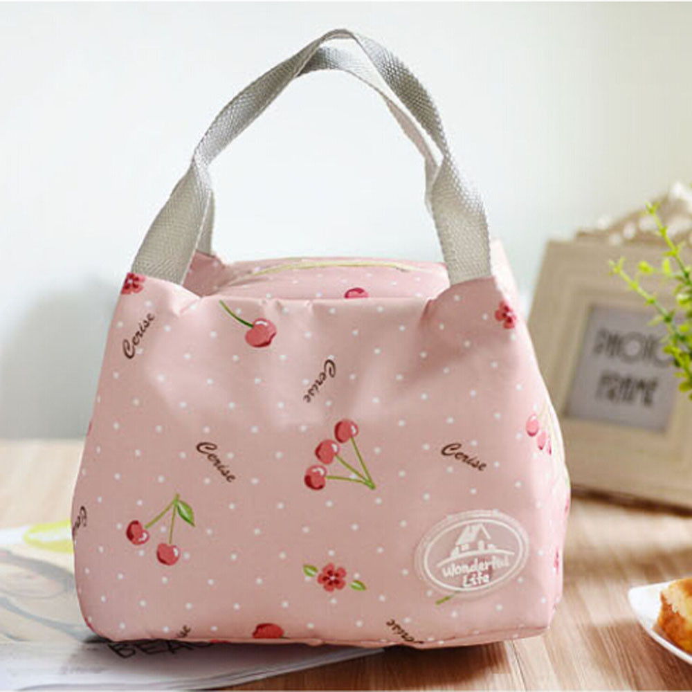 2019 New Thermal  Insulated Portable Lunch Bag Tote Picnic Cooler Zipper Organizer LunchBox
