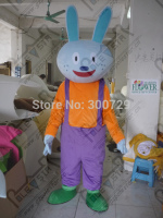 Purple Bib Bunny Mascot Costumes