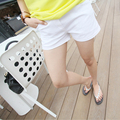 Pregnant Women Belly Shorts For Summer High Quality Black/White Regular Casual Maternity Pants Elastic Waist Belly Trousers 2016
