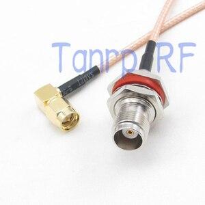 20 дюймов TNC женский разъем водонепроницаемый к SMA Мужской правый угол RF разъем адаптера 50 см Pigtail коаксиальный Соединительный кабель RG316