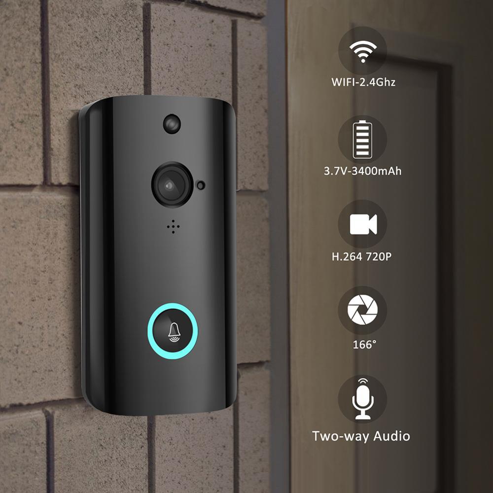 Умный беспроводной дверной звонок, видео камера для домашней безопасности, дверной телефон M9, WiFi, удаленный видео дверной звонок, телефон, домофон, звонок, поддержка TF карты|Видеодомофон|   | АлиЭкспресс