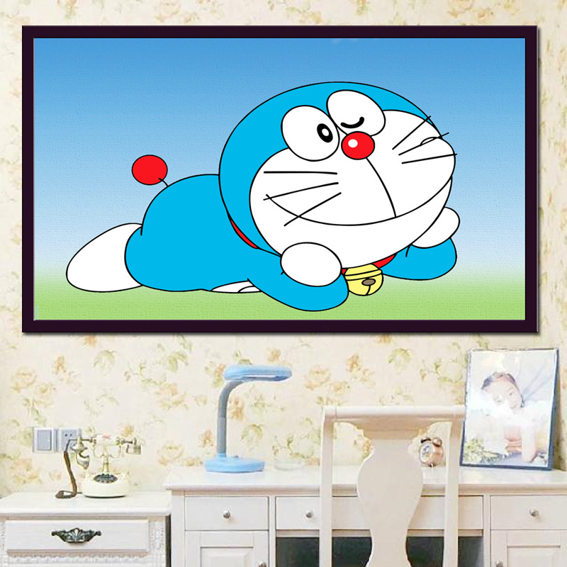 Full Diamond Painting The Happy Doraemon Diy Diamond Embroidery Anime Style Picture Decorated Kids Room A Good Gift For Family