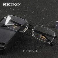 c1532e50b SEIKO Optical Eye Glasses Men Semi Rimless Titanium Spectacles Myopia Glass  Frame Grade Lenses Male Prescription. SEIKO Vidros do Olho Óptico óculos ...