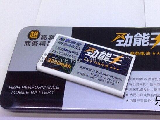 3200mAh Li ion Portable Mini Backup Replacement Battery for Samsung Galaxy S5 I9600 Batterie Batterij Bateria