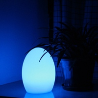 D14*H19cm Polythylene lithium rechargeable battery RGBW 16 colour change Egg Light lamp Waterproof IP68 Free shipping 4pcs/Lot