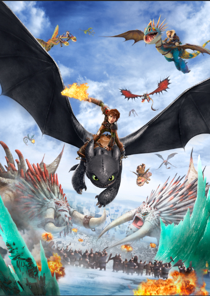 HOW TO TRAIN YOUR DRAGON  PERSONALIZED ART//POSTER //BANNER//PICTURE