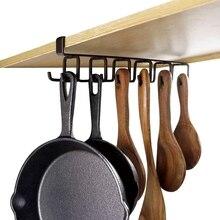 Многофункциональный гвоздь бесплатно 12 крючков держатель кружки под шкаф кофе чашки вешалка для кухни, Armoire и любой толщины 0,8 дюймов